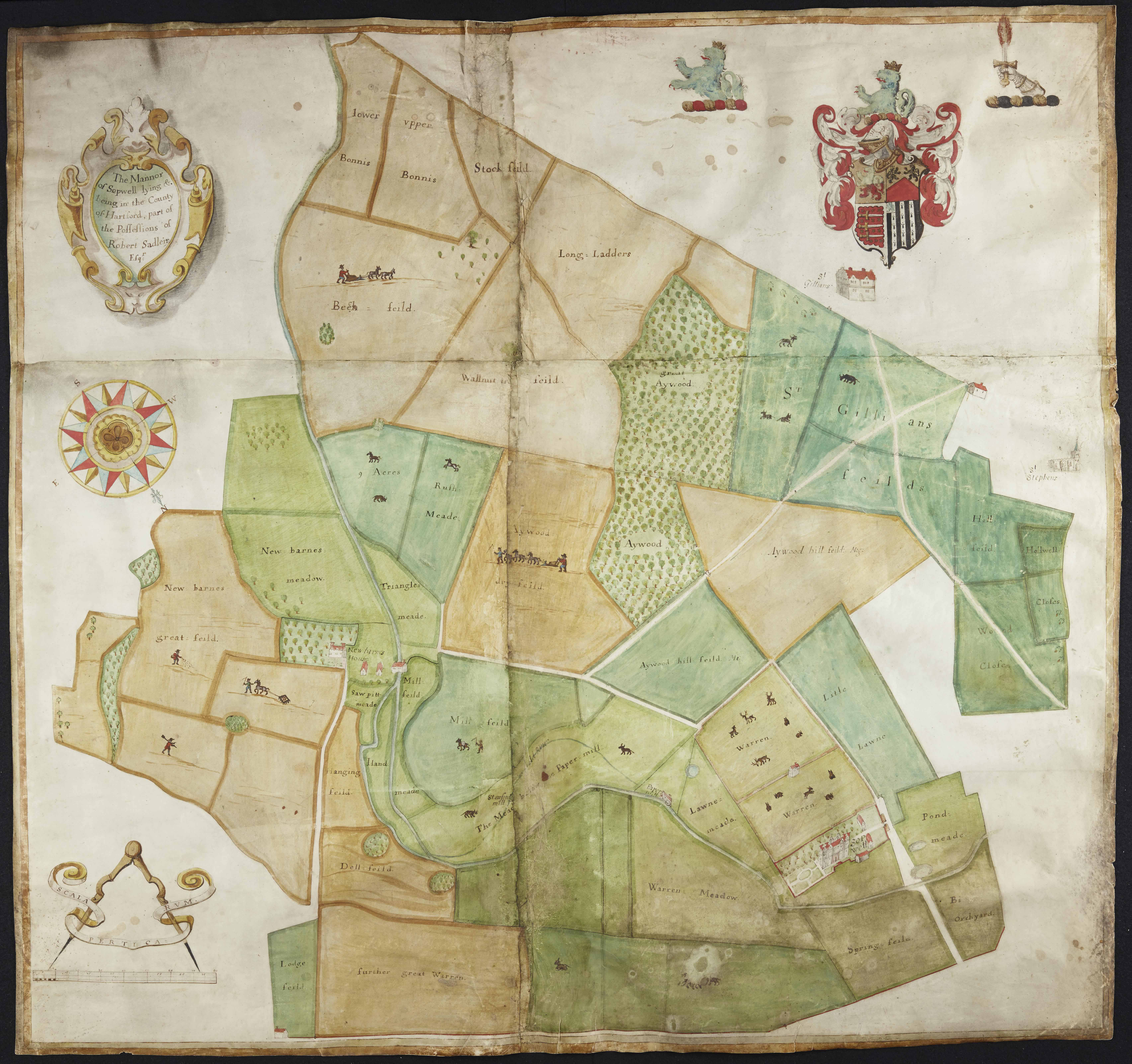 1666 map of Sopwell